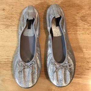 Silver Ballet Flat